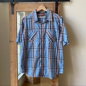 Merrell Colfax Plaid Short Sleeve Button Down